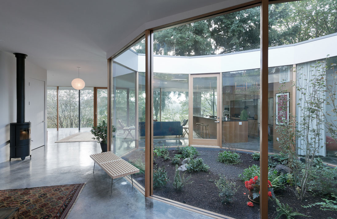 Noa courtyard house for Jardin zen interior
